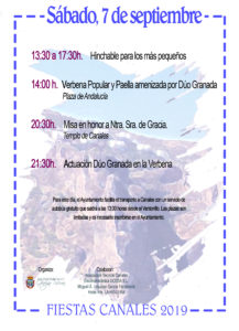 Fiestas Canales 2019 PROGRAMA