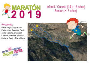 Fiestas Maraton infantil senior