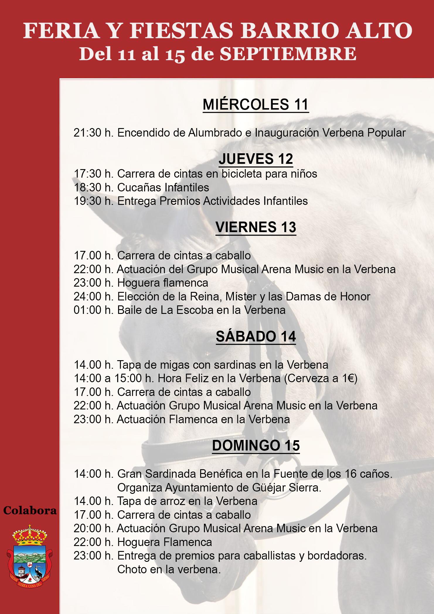 Fiestas Barrio Alto PROGRAMA